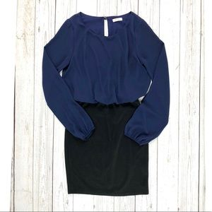 Everly navy and black dress
